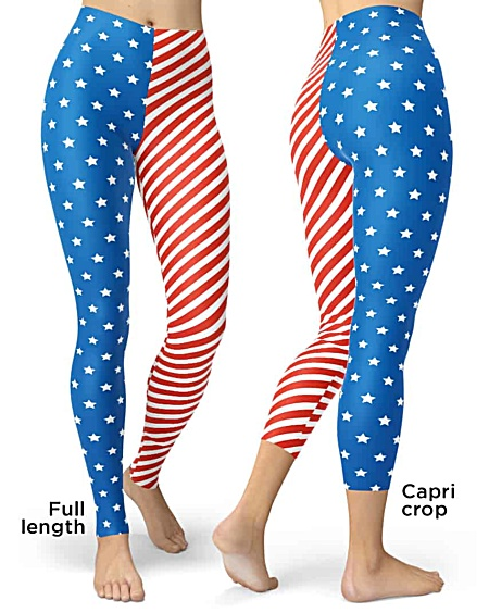 USA Patriot 4th of july American flag leggings