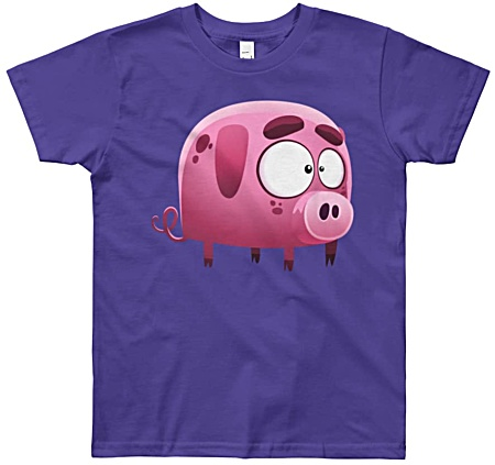 Little Piggy Tshirt for Kids + Youth Sizes