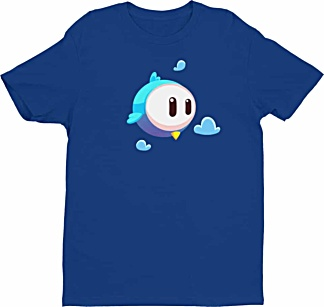 Big Eye Bird Cartoon Tee - Tshirts by Squeaky Chimp