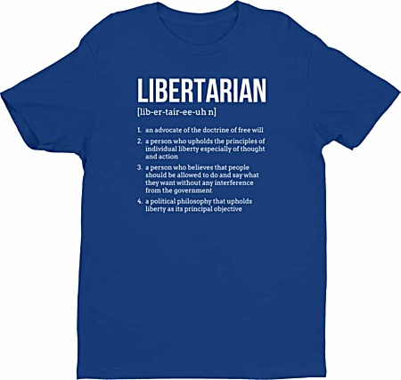 Political Freedom Libertarian Tshirts- Tshirts by Squeaky Chimp