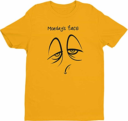 Monday Face - Days of the week tshirts - Men