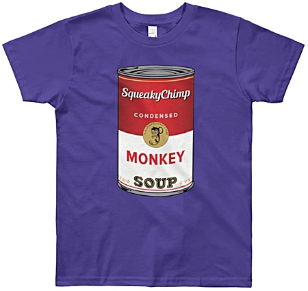 Monkey Soup Kids Funny T-shirts - youth size monkey tees