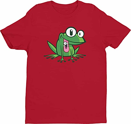 Green Frog Tshirts - Rude Tees for Men by Squeaky Chimp