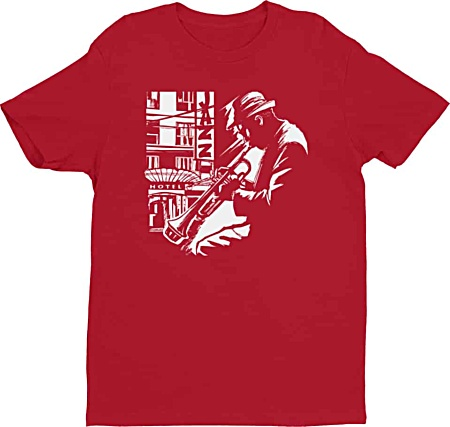 Jazz trumpet player music tshirt for men