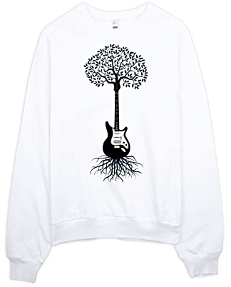 Guitar Sweatshirt American Apparel