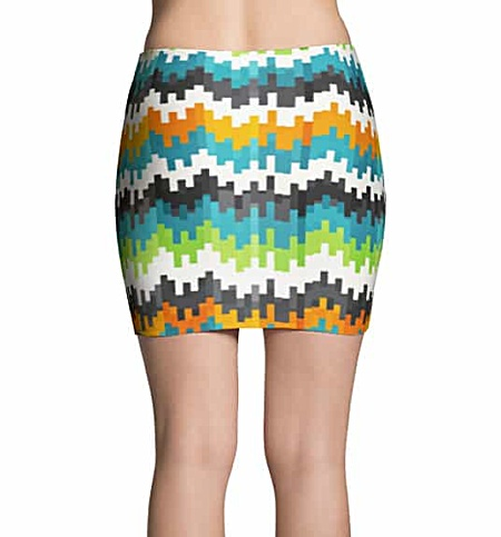 Cool Pixel Mini Skirt