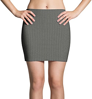 Metal Chainmail Mini Skirt
