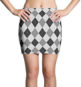 Argyle Mini Skirt