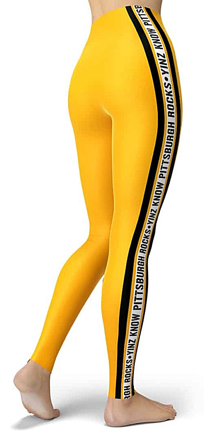 Yinz know Pittsburgh rocks - Pittsburghese - NFL Football Pittsburgh Steelers Game Day Tailgating Leggings
