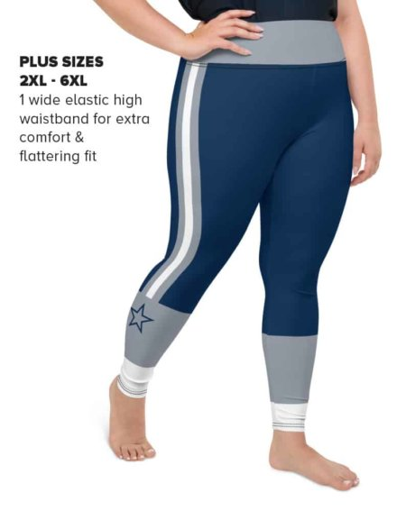 Plus size Dallas Cowboy Sports NFL Football Leggings