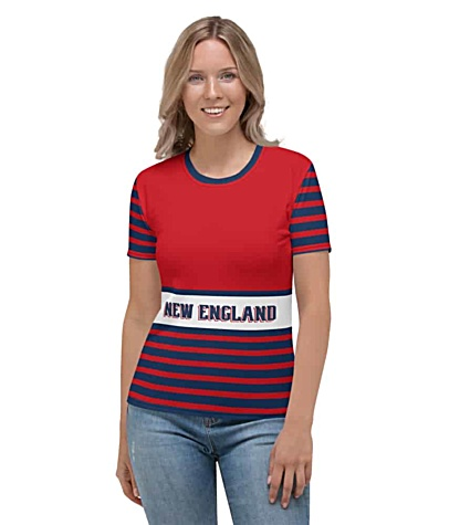 NFL Football New England Patriots T-shirt Tee for Women