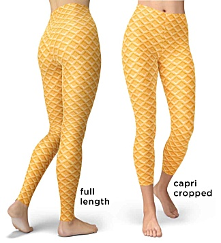 Halloween Costumes - Carnival Costume- Ice cream cake cone leggings