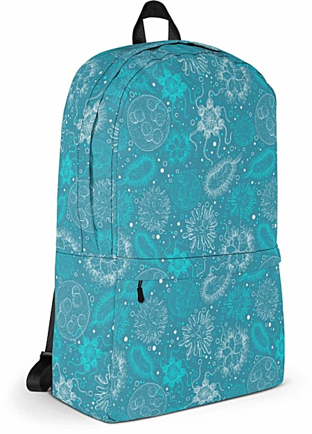 microbiologist scientist microbiology microbe virus backpack bag