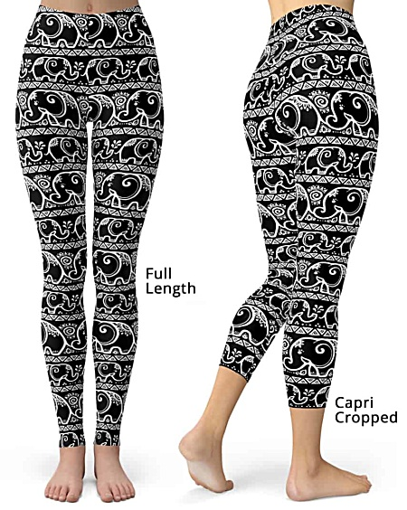 Black Elephant Leggings, Elephants legging