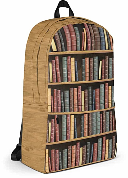 Library books Backpack Laptop Bag