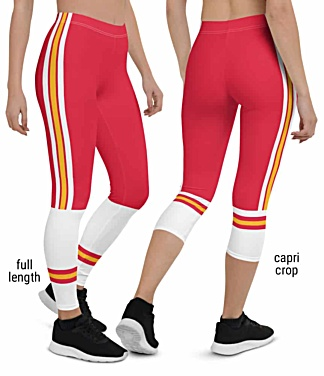 Kansas City Chiefs NLF Football Leggings for Tailgating Parties