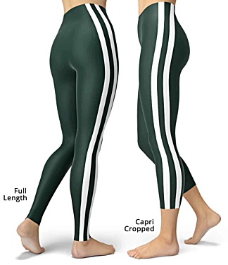 New York Jets uniform NLF Football Leggings for Tailgating Parties