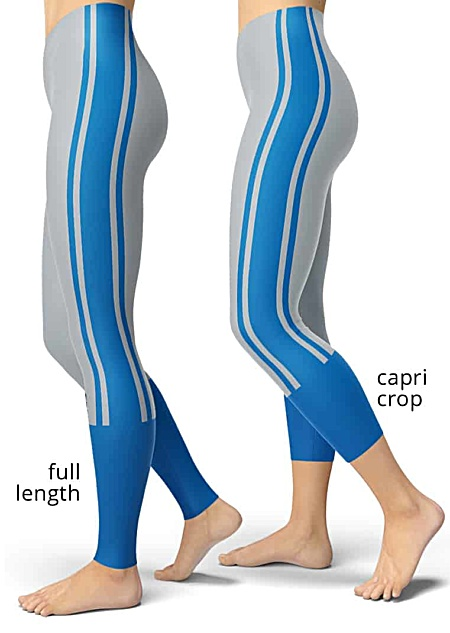 Michigan Detroit Lions uniform NLF Football Leggings for Tailgating Parties