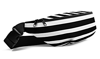 red white green blue black orange stripe stripes striped stripped horizontal vertical strips bumbag bumbag bag hip packs fanny pack belt