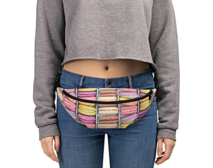 sweet sweets colorful macaroon macaroons Fanny Pack bumbag bumbag bag hip packs fanny pack belt