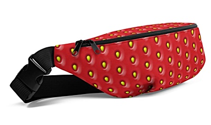 strawberry strawberries seed seeds pink red Fanny Pack bumbag bumbag bag hip packs fanny pack belt