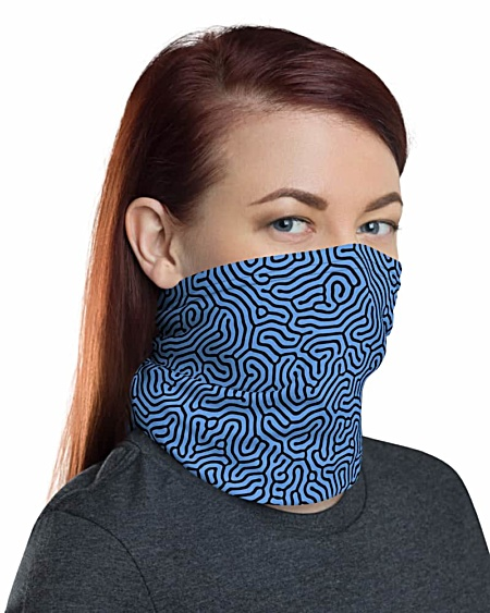 Biological Abstract protective coronavirus Face Mask Neck Gaiter