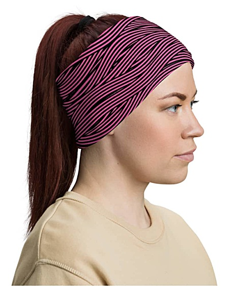 Spaghetti Bandage Stripe Face Mask Neck Gaiter