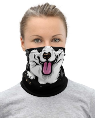 Pembroke Welsh Corgi puppy dog face cover Mask Neck Gaiter
