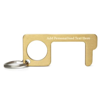Anti Virus/Germ Protection Engraved Brass Touch Tool