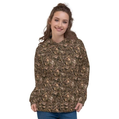 Branches & Twigs Realistic Camouflage Hoodie / Unisex Size camo top hood