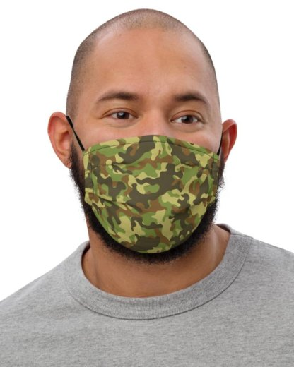 Camouflage Camo Anti-Viral Face Mask filtered blue green pink
