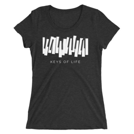 Piano Keys T-shirt Women's Short Sleeve Top